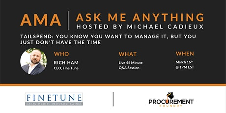 AMA - Ask Me Anything with Rich Ham of Fine Tune tickets