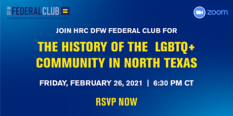 HRC DFW Federal Club February 2021 Virtual Mixer tickets