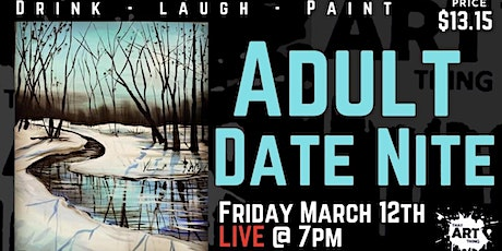 Date Night Paint Night - Teal Winterscape tickets