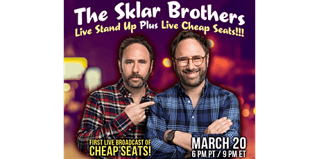 The Sklar Brothers Live Stand Up Plus Live Cheap Seats!!! tickets