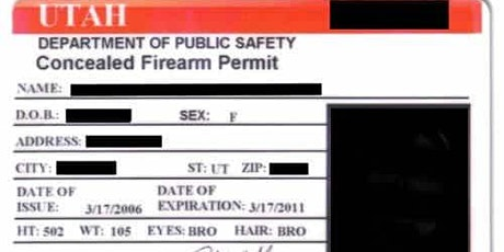 Utah Conceal Carry Class tickets
