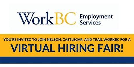 WorkBC Virtual Job Fair tickets