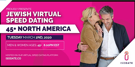 Isodate's 45+  Jewish Virtual Speed Dating tickets
