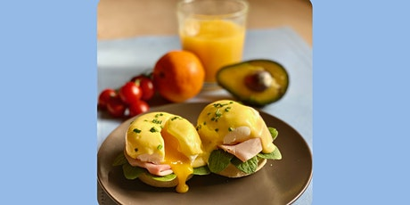 ONLINE Sunday Brunch Eggs Benedict - cooking class with Madebyflour tickets