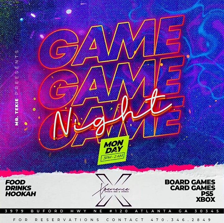 GAME NIGHT MONDAY'S AT XPERIENCE SPORTS BAR  (IG @XPERIENCESPORTSBAR) image