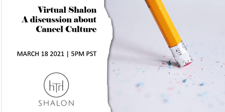 Virtual Shalon | A discussion about Cancel Culture tickets