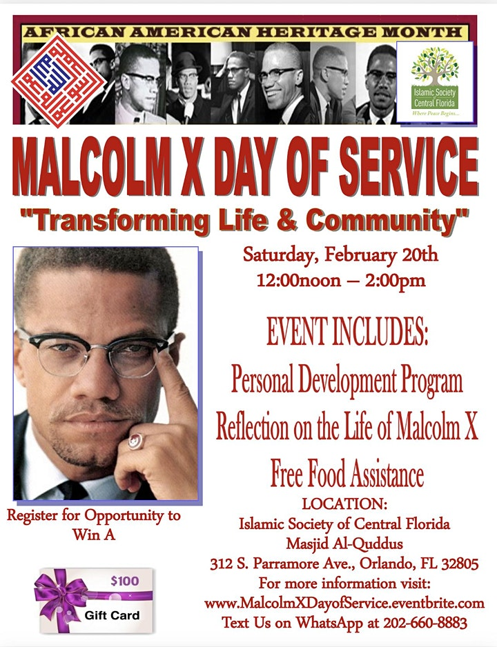 Malcolm X Day of Service image