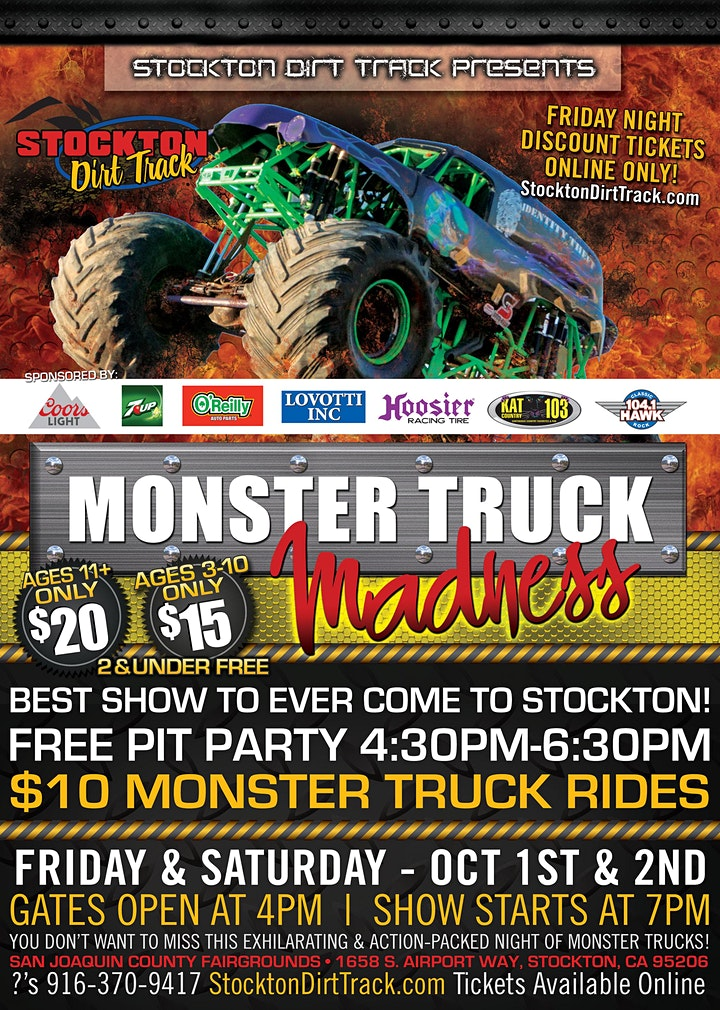 Monster Truck Madness  - Friday, October 1, 2021 image