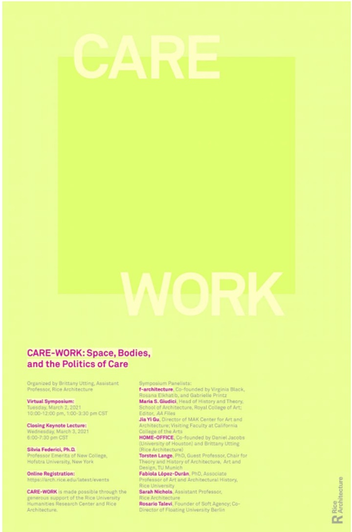 CARE-WORK Symposium Closing Keynote Lecture by Silvia Federici, Ph.D. image