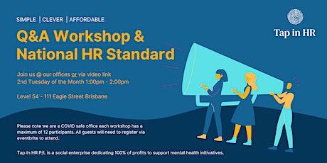Q&A - National HR Standard Framework tickets