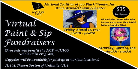 NCBW Anne Arundel County Chapter  Virtual Paint & Sip Fundraiser Events tickets