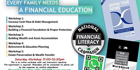 Financial Education Workshop - Saturday tickets