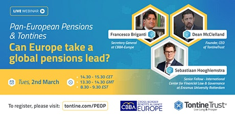 Pan-European Pensions & Tontines: Can Europe take a global pensions lead? tickets