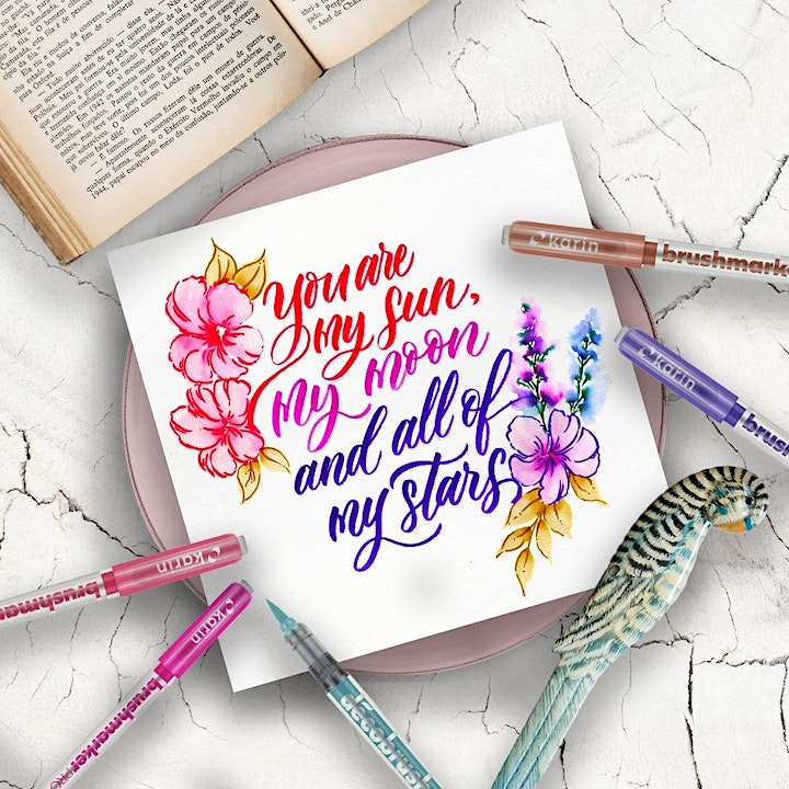 Floral Wreath Brush Lettering Workshop by Souldeelight image