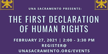 UNA Sacramento Presents: The First Declaration of Human Rights tickets
