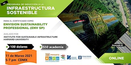 Webinar: Preparacion en Español  Infraestructura Sostenible: ENVISION entradas