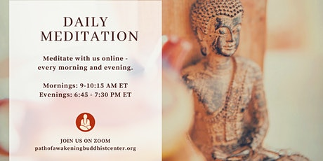 Morning Meditation on Zoom - Livestream Guided Meditation & Group Practice tickets