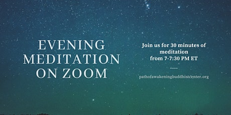 30 Minute Live Group Meditation on Zoom tickets