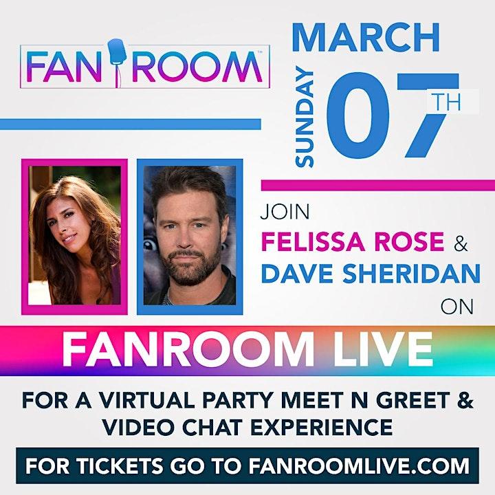 Felissa Rose & Dave Sheridan host FanRoom Live image
