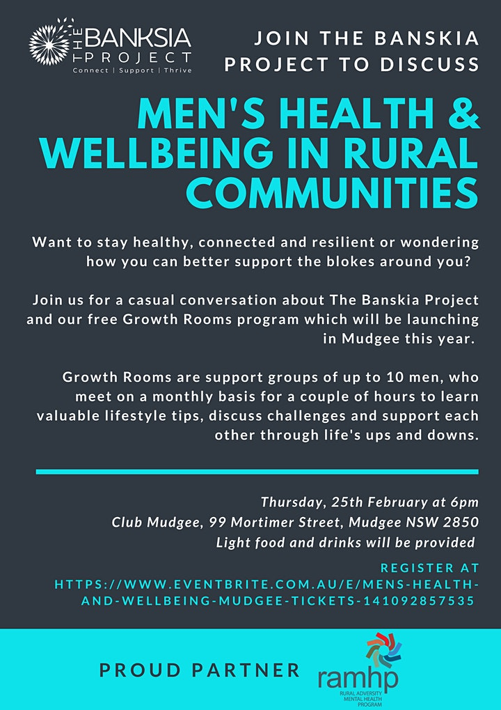 Men's Health and Wellbeing - Mudgee image