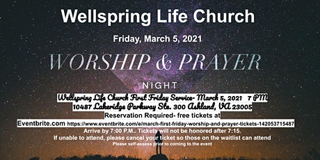March First Friday Worship and Prayer tickets