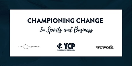 Championing Change in Sports and Business tickets