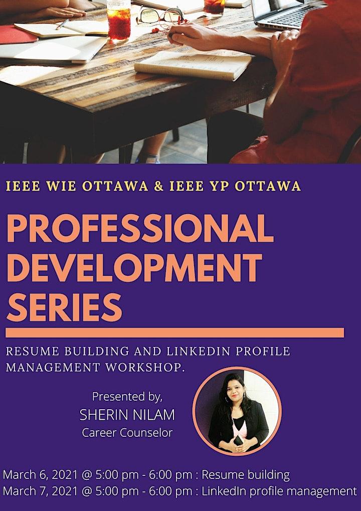 Professional Development Workshop - Resume building and LinkedIn management image