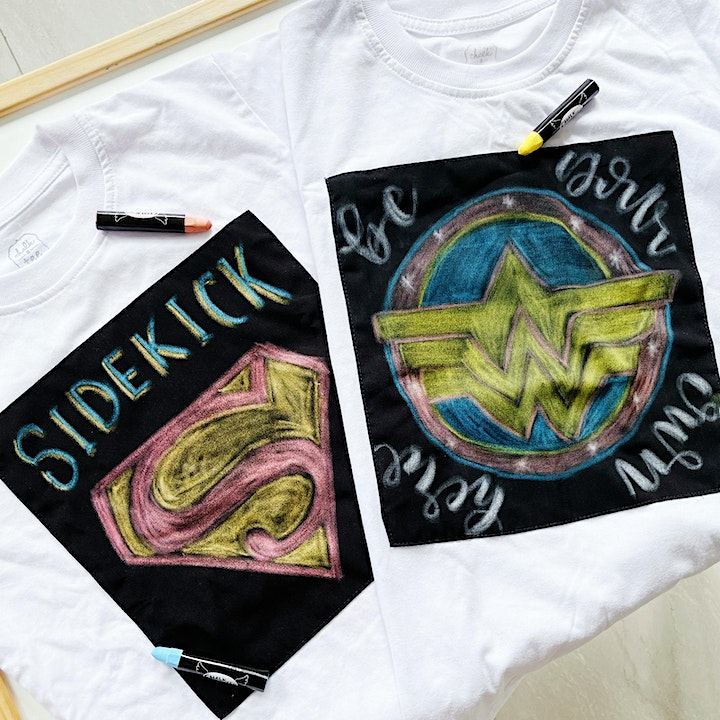 Superhero Chalk Lettering Kids Workshop by onekindletterer image