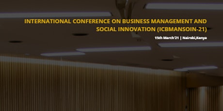 International Conference on Business Management and Social Innovation tickets