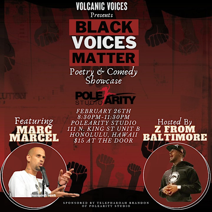 Black Voices Matter: Poetry & Comedy Showcase Featuring Marc Marcel image