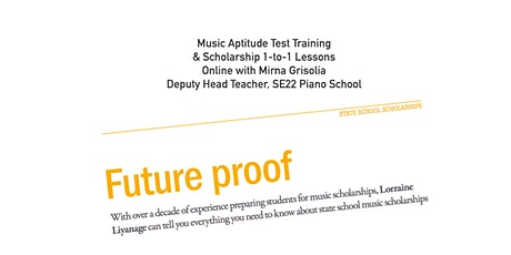 Online Tutoring: Music Scholarship & Aptitude Test 1-to-1 Lessons tickets