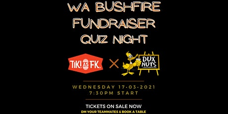 Quiz Night - WA Bushfire Relief Fundraiser tickets