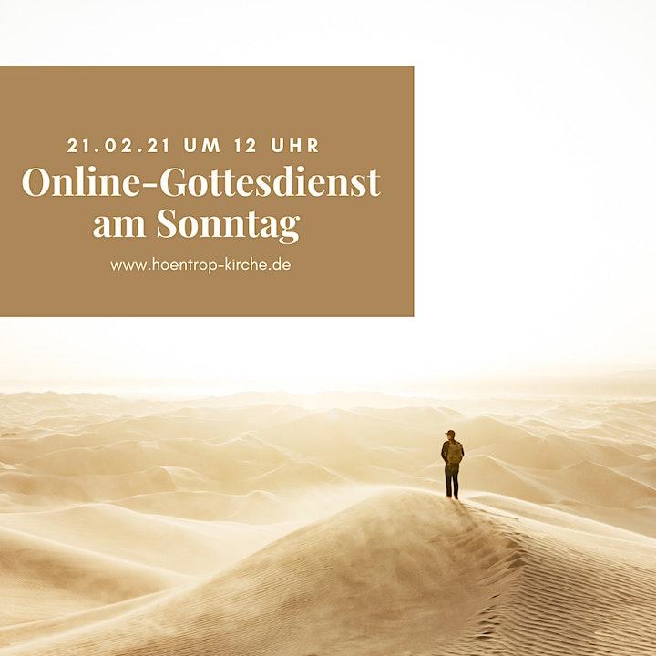 Online-Gottesdienst: ... in die Wüste geschickt!: Bild