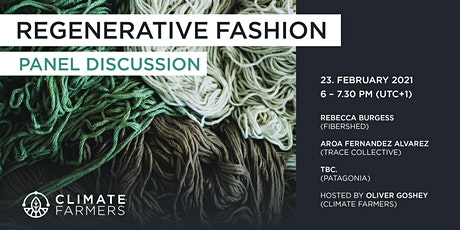 Regenerative Fashion – Panel Discussion w/ Patagonia, Fibershed & Trace Co. tickets