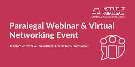 Paralegal Webinar & Virtual Networking Event tickets