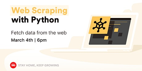 [Free workshop] Python Web Scraping tickets