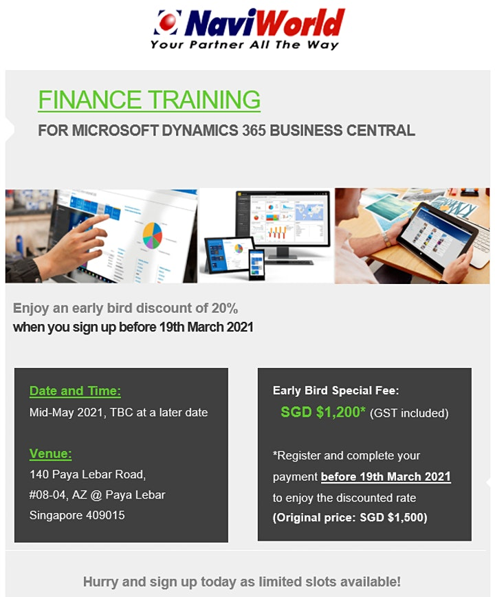 Finance Training for Microsoft Dynamics 365 Business Central image