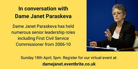 In conversation with Dame Janet Paraskeva tickets