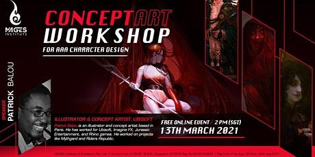 Concept art Workshop for AAA Character Design by Patrick Balou tickets