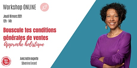 Bouscule tes conditions générales de vente ©  Séverine Evrard tickets