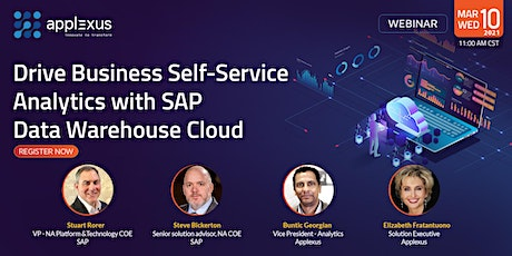 Drive Business Self-Service Analytics with SAP Data Warehouse Cloud tickets