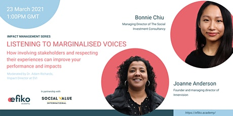 Maximising impacts: listening to marginalised voices tickets