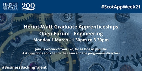 HW Graduate Apprenticeships Open Forum - Engineering tickets