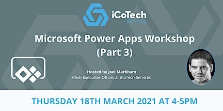 Microsoft Power Apps Workshop tickets