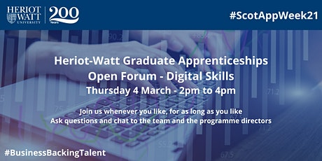 HW Graduate Apprenticeships Open Forum - Digital Skills tickets