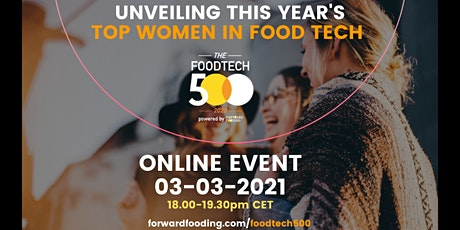 [Special online event]2020 Food Tech 500: Top Women in Food Tech tickets