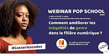 Webinar POP School / Inégalités de genre dans la filière du numérique. billets