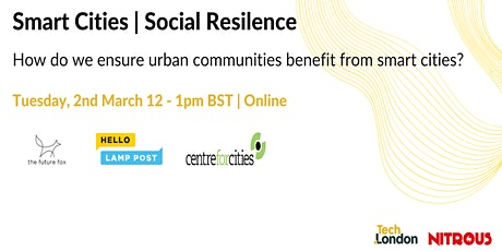 Roundtable: How do we ensure urban communities benefit from smart cities? tickets
