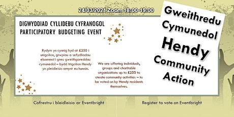 Gweithredu Cymunedol Hendy Community Action tickets