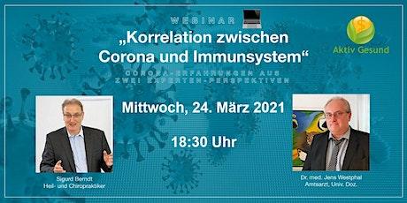 Korrelation Corona & Immunsystem Tickets
